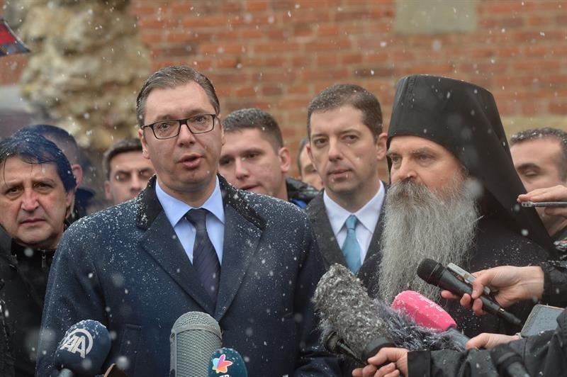 Predsednik Srbije Aleksandar Vucic stigao je u Banjsku.