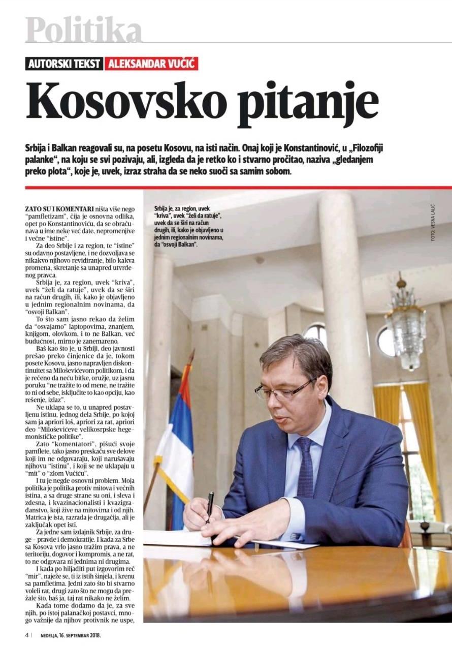 Autorski tekst za Blic