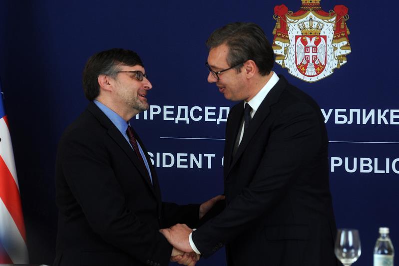 Председник Србије Александар Вучић са Палмером