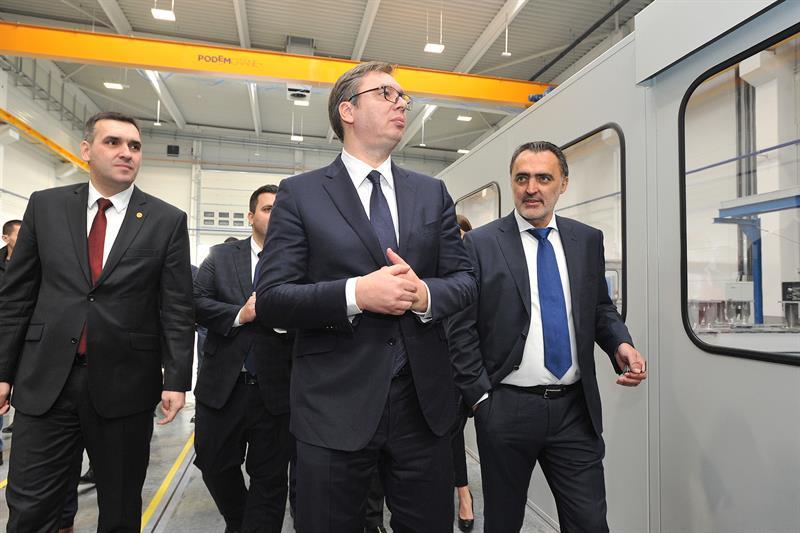 Председник Србије Александар Вучић на отварању компаније МИНД Реал Естате