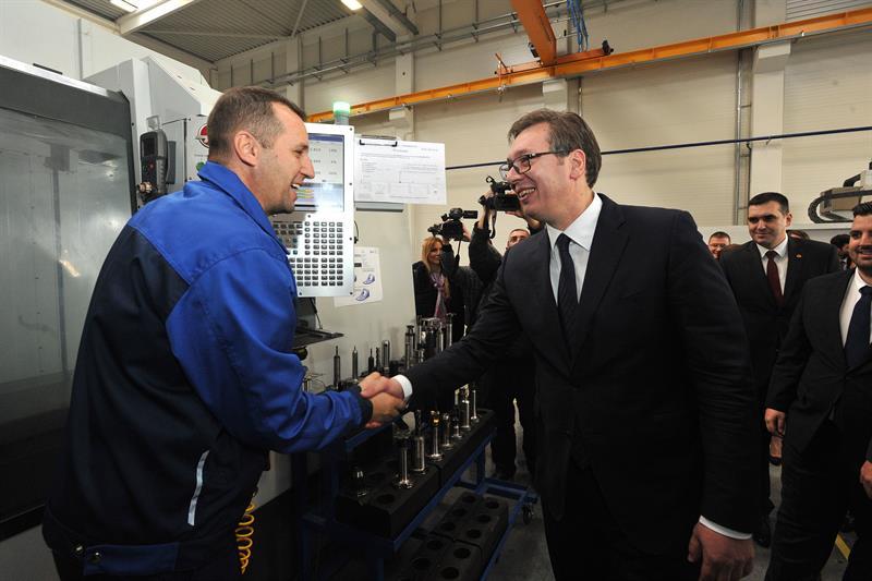 Председник Србије Александар Вучић на отварању компаније МИНД Реал Естате.