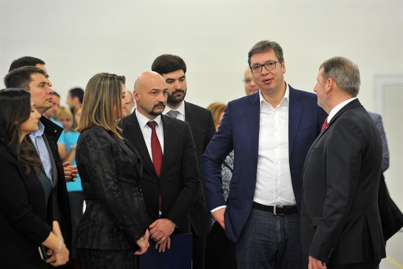 Председник Србије Александар Вучић у Трстенику.