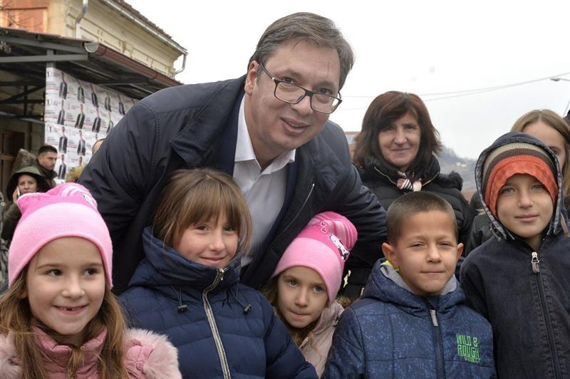 Председник Србије Александар Вучић у Лучанима.