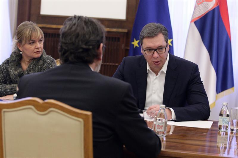 Председник Србије Александар Вучић са Томиславом Жигмановим.