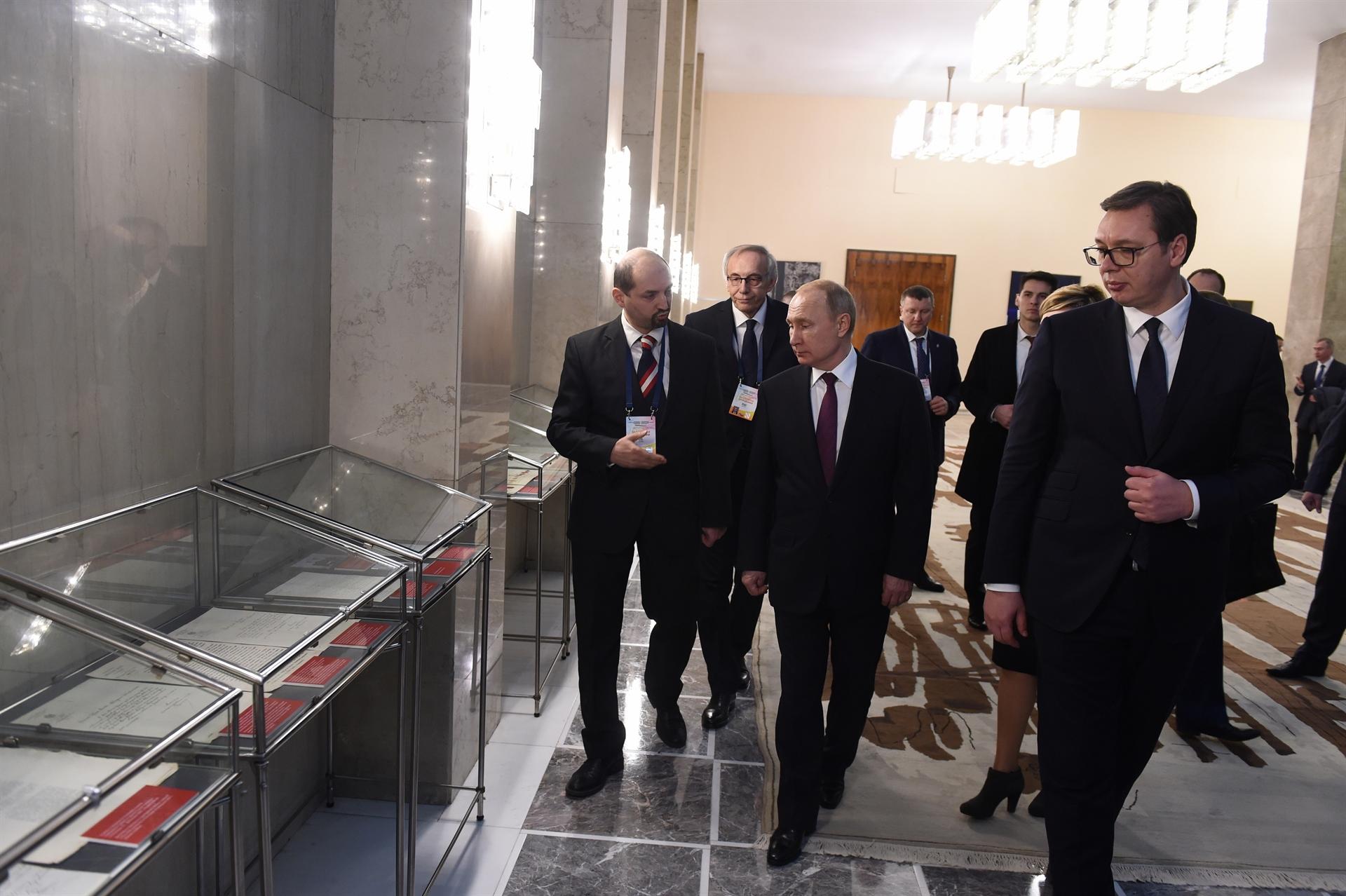 Sastanak srpske i ruske delegacije, koju predvode predsednici Srbije Aleksandar Vucic i Rusije Vladimir Putin