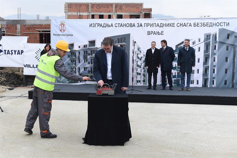Председник Србије Александар Вучић у Врању.