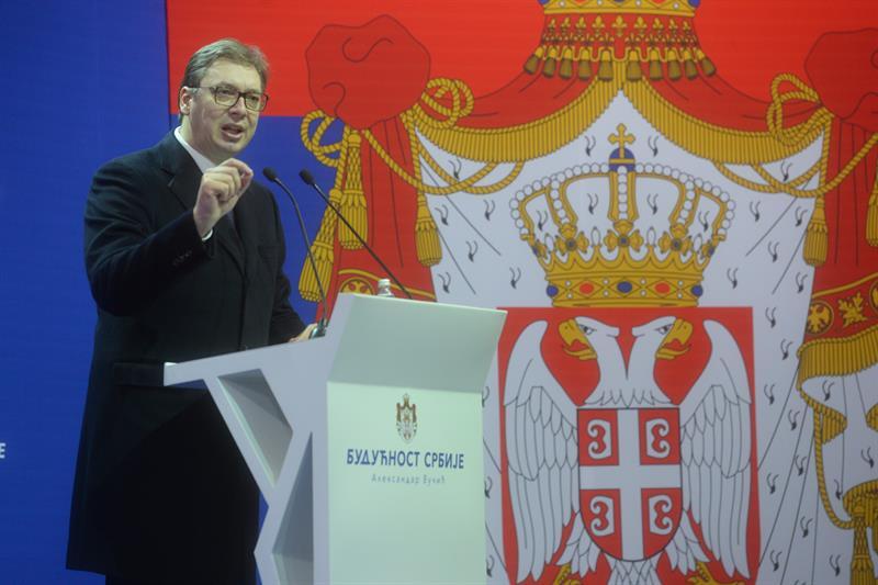 Председник Србије Александар Вучић у Шапцу.