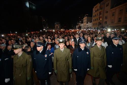 Председник Србије Александар Вучић на комеморацији у Нишу поводом Дана сећања на НАТО бомбардовање