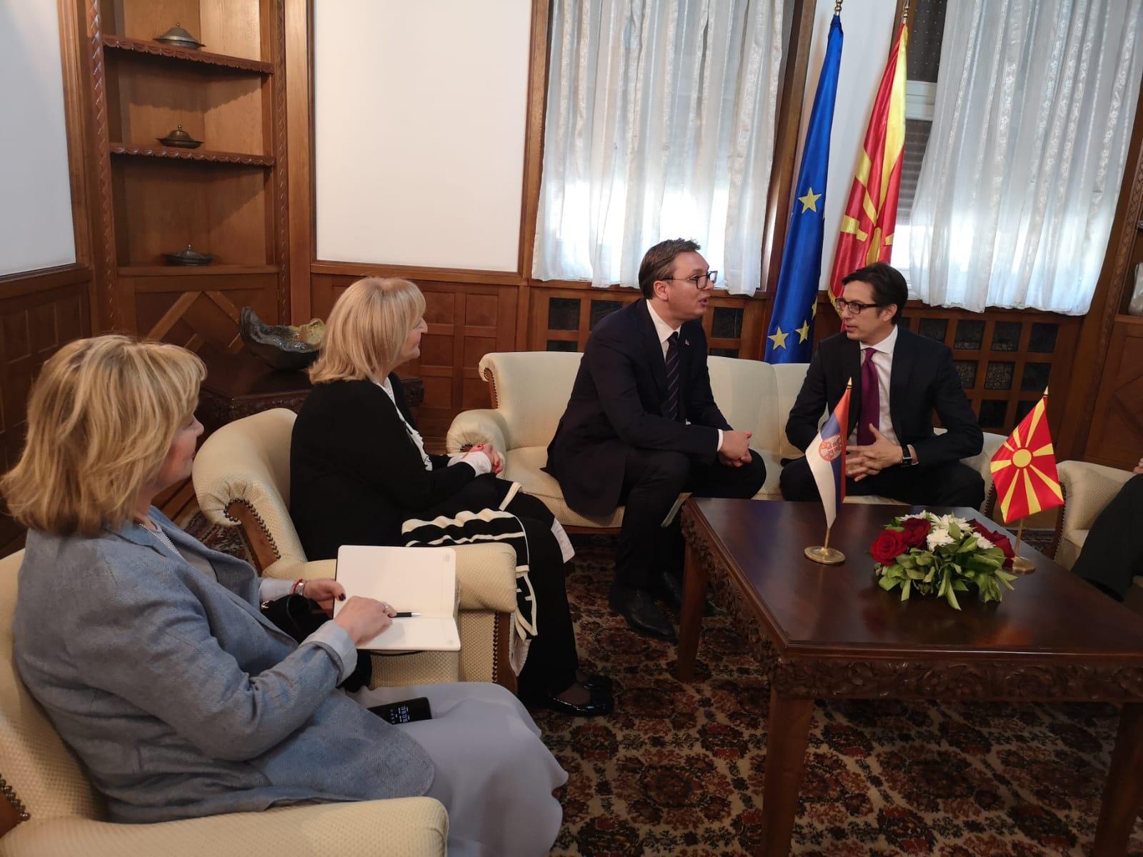 Predsednik Srbije Aleksandar Vucic na inauguraciji Steve Pendarovskog za prvog predsednika Severne Makedonije.