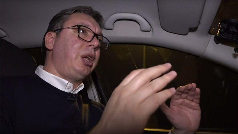 Predsednik Srbije Aleksandar Vucic vozio je ekipu Telegrafa novim auto-putem.