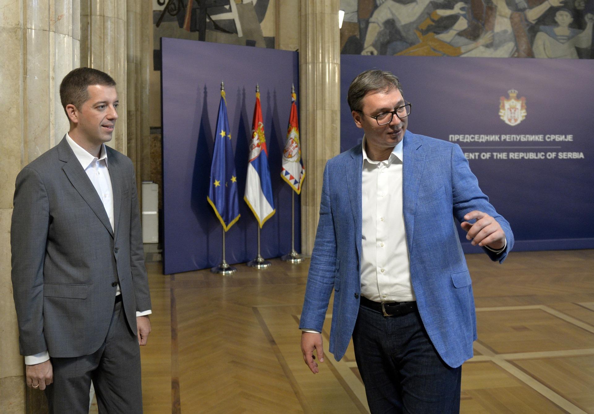 Aleksandar Vucic i Marko Djuric