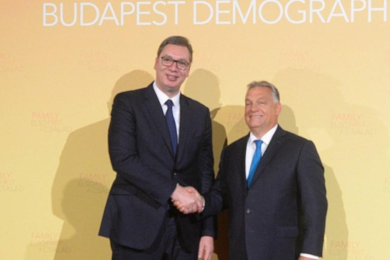 Predsednik Srbije Aleksandar Vucic u Budimpesti sa Viktorom Orbanom.