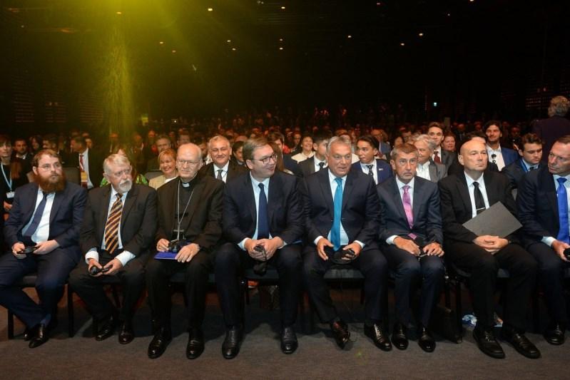 Predsednik Aleksandar Vucic na samitu u Budimpesti.