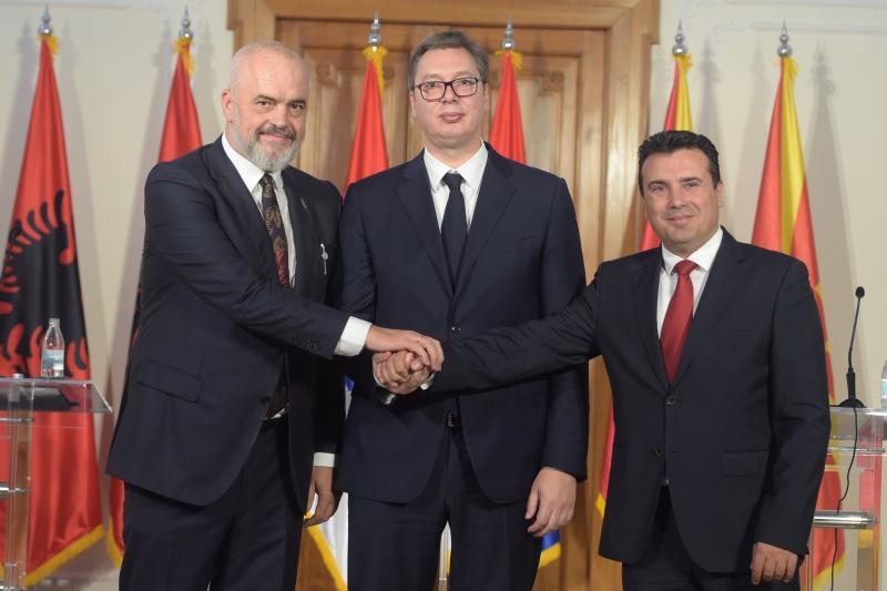 Vucic sa Zoranom Zaevom i Edijem Ramom