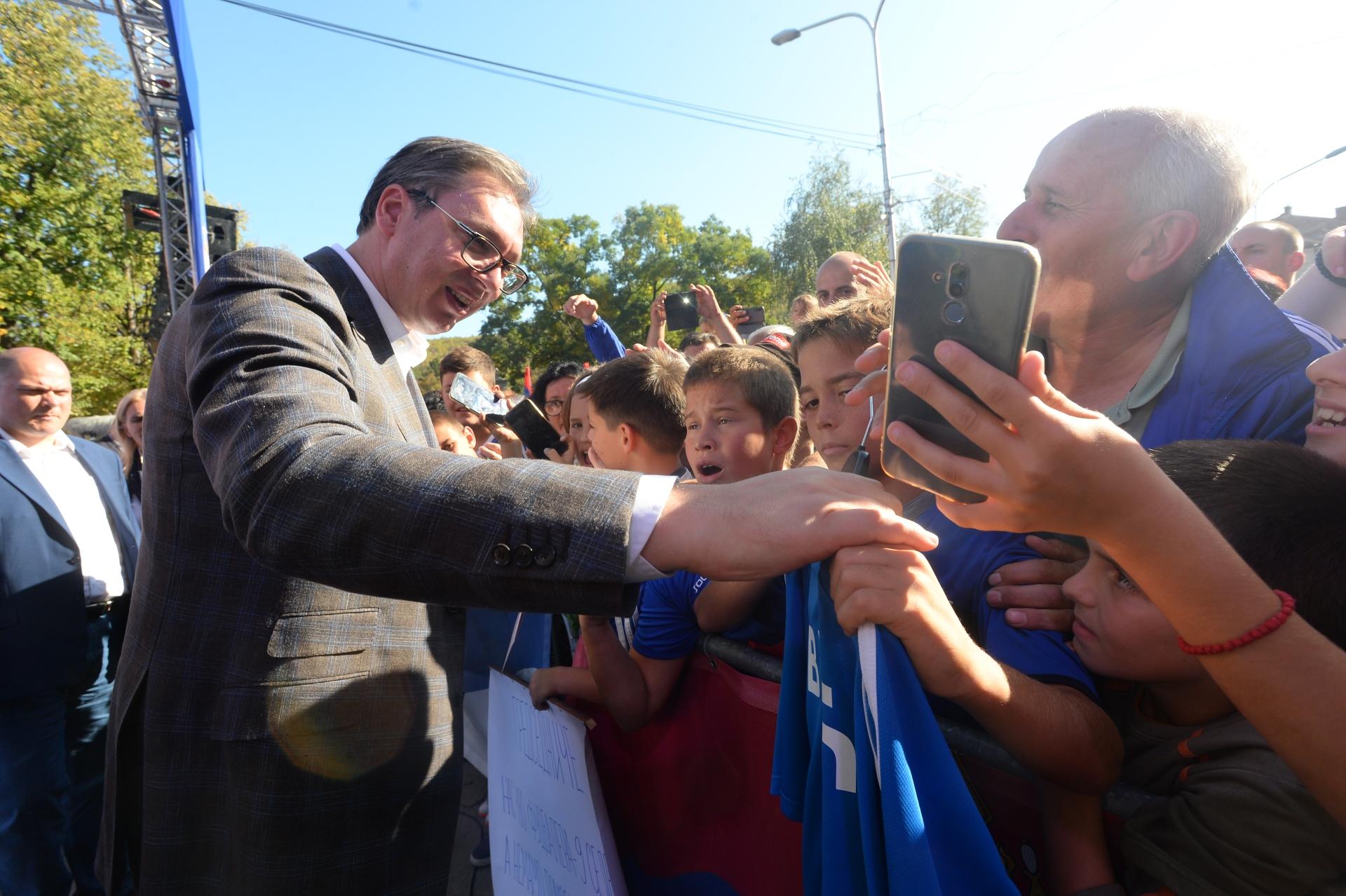Predsednik Srbije ALeksandar Vucic u Kursumliji