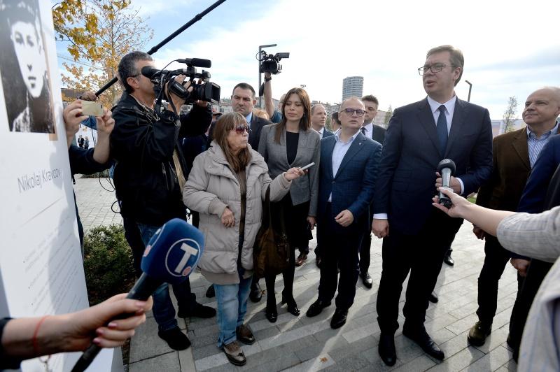 Председник Србије Александар Вучић на отварању Београдског парка.