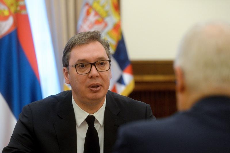 Председник Србије Александар Вучић са Александром Грушком.