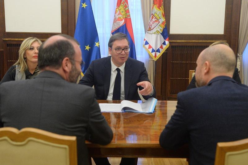 Vucic sa delegacijom EU parlamenta