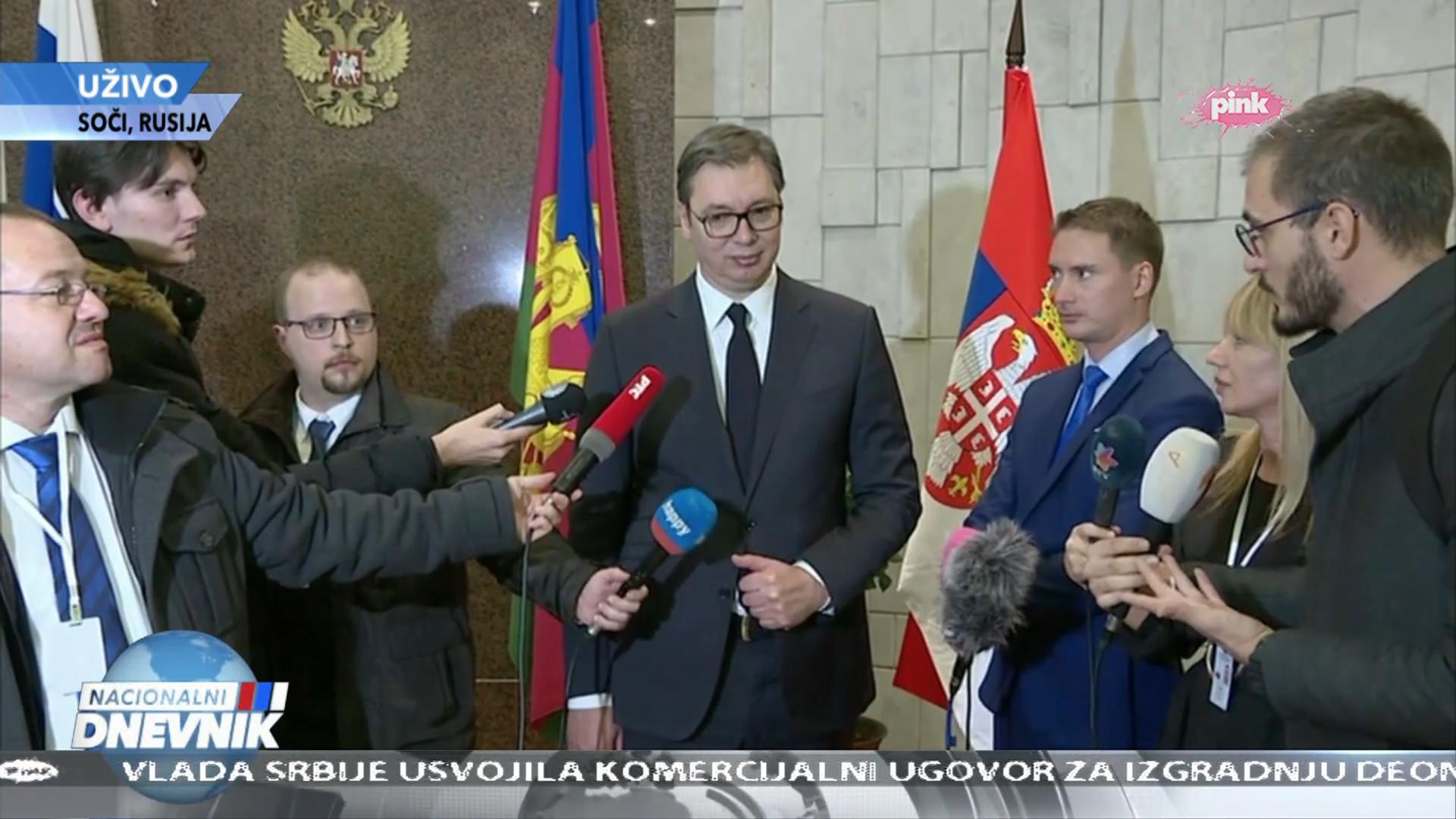 Vucic i Putin Pink Tv 04.12.2019 - Odgovori novinarima