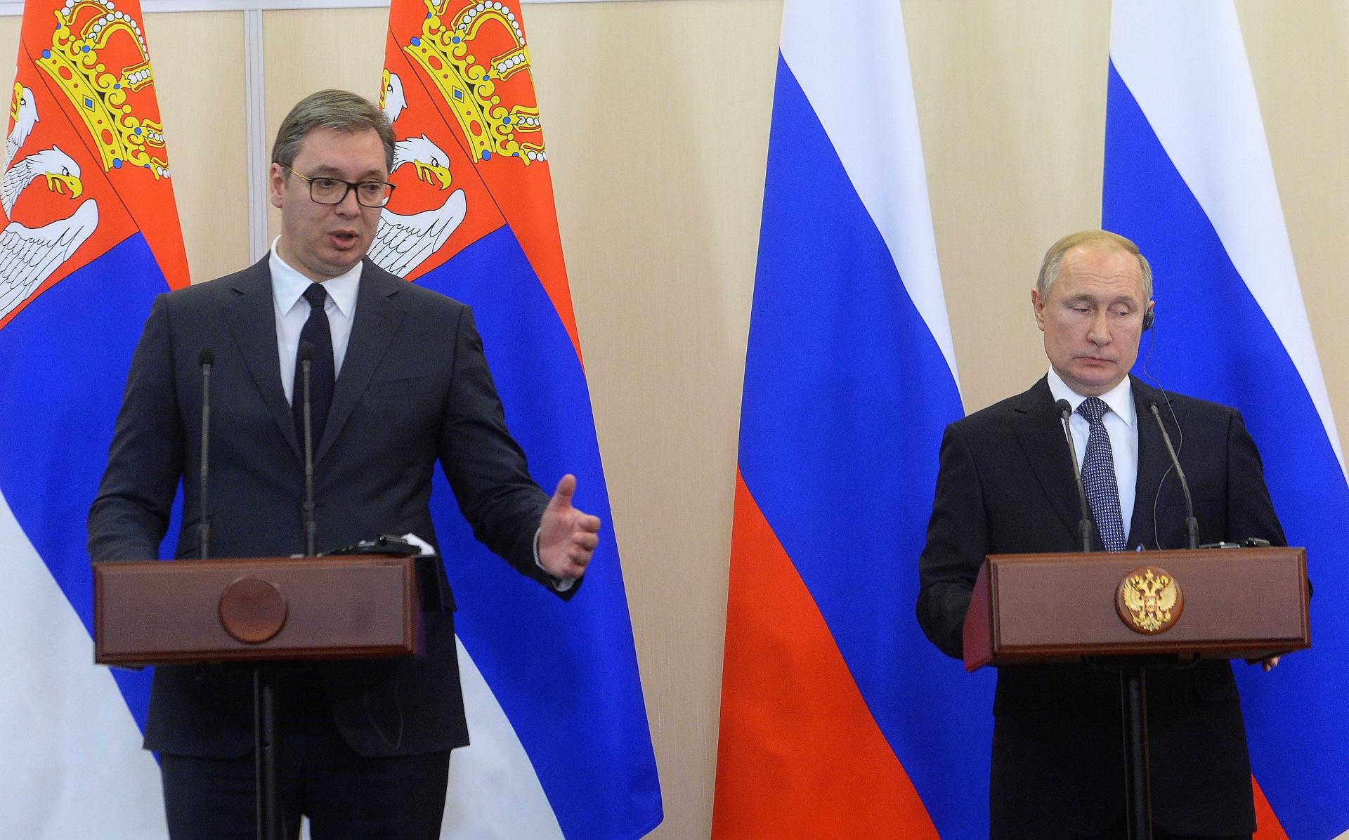 Vucic i Putin - zajednicka pres konferencija u Sociju 04.12.2019. godine