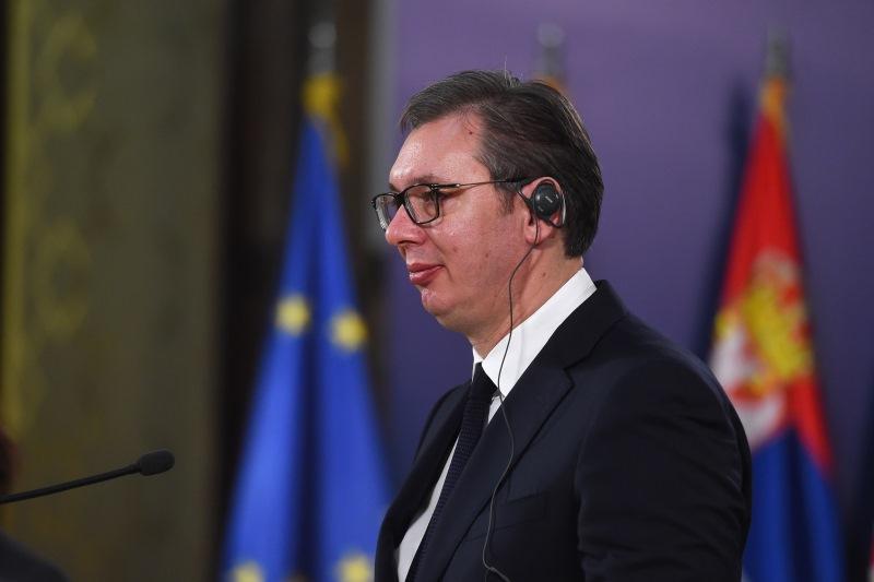 Председник Србије Александар Вучић са министарком одбране Француске Флоранс Парли.