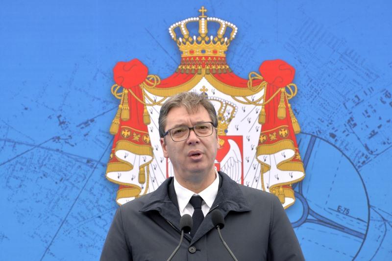 Председник Србије Александра Вучић на отварању обилазнице Ипсилон крака на Коридору 10.