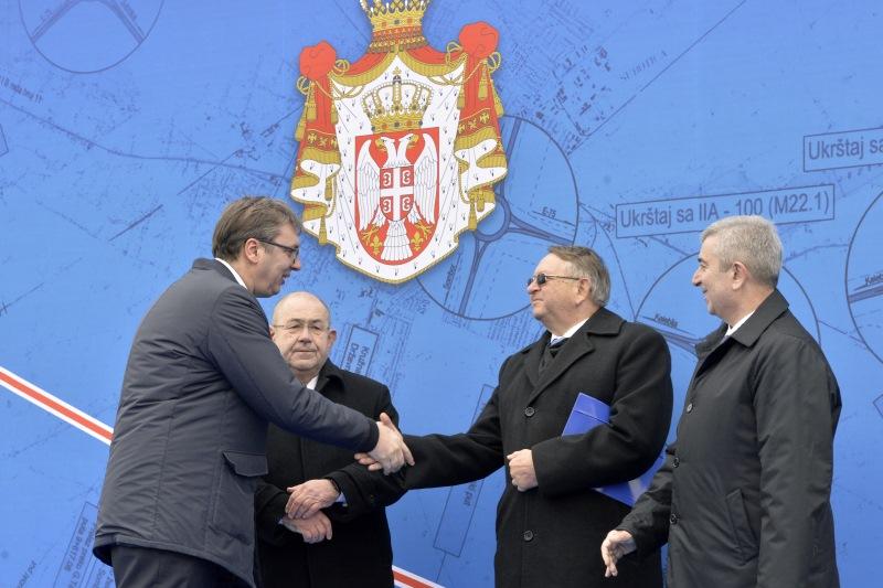 Председник Србије Александар Вучић на отварању обилазнице Ипсилон на Коридору 10.