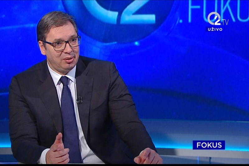 Predsednik Aleksandar Vucic u emisiji Fokus na O2 TV.