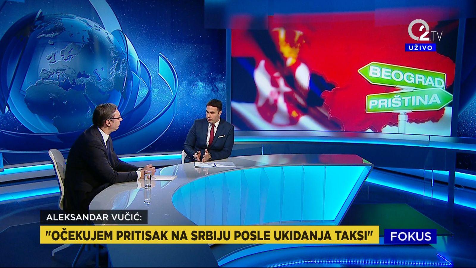 Predsednik Aleksandar Vucic o pritiscima na Srbiju.