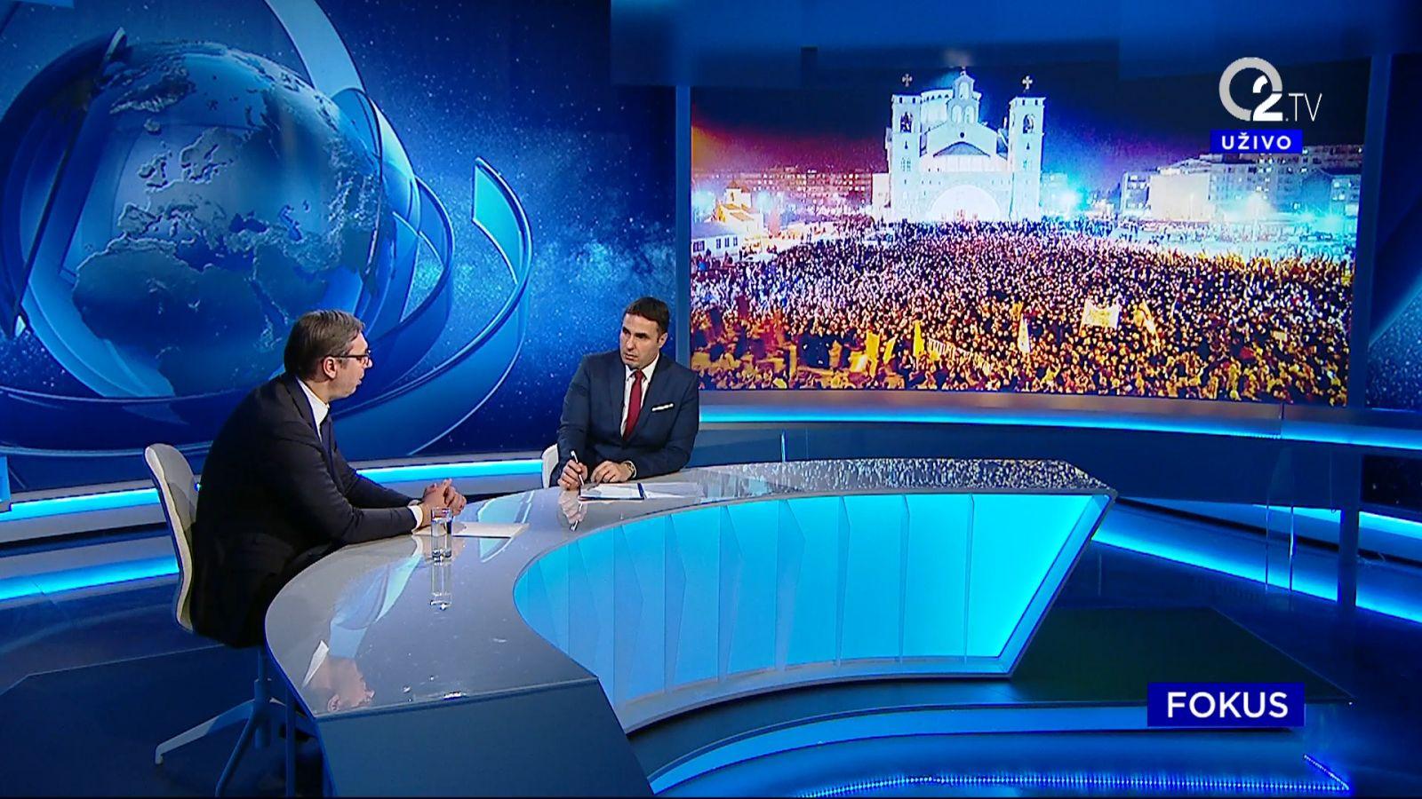 Predsednik Aleksandar Vucic o situaciji u CG i SPC, Dusanu Markovicu.