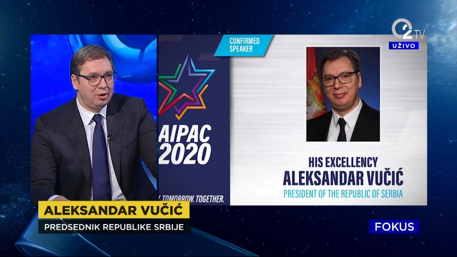 Predsednik Aleksandar Vucic o AIPAC-u.