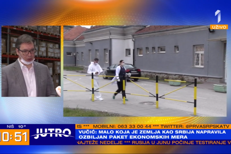 Predsednik Srbije Aleksandar Vucic Drzava dosad ulozila 370 miliona evra u medicinsku opremu i zastitu