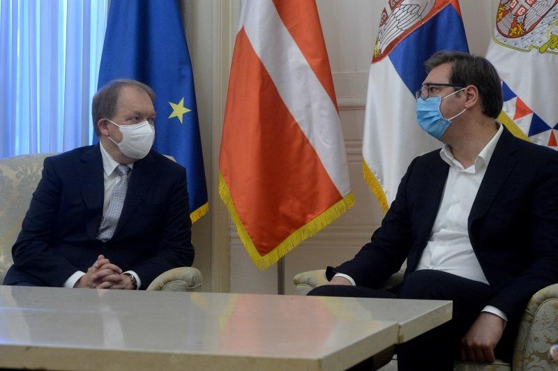 Председник Србије Александар Вучић са Андерсоном Кристијаном Хоугором.