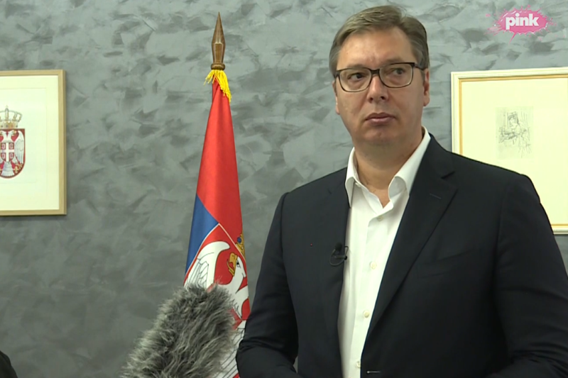 Predsednik Srbije Aleksandar Vucic dobar sastanak sa Lajcakom i Palmerom