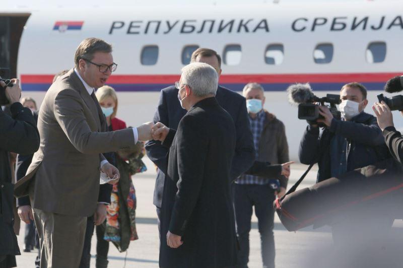 Председник Србије Александар Вучић са Представницима Федерације БиХ.