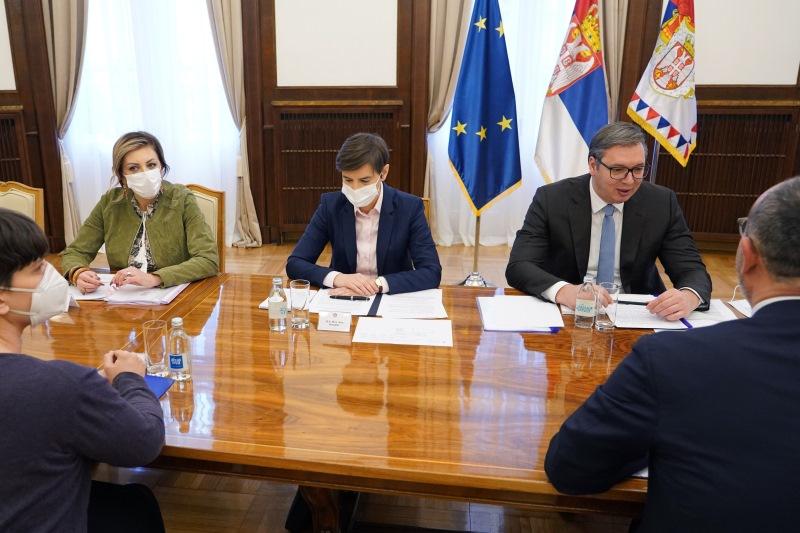 Председник Србије Александар Вучић са Семом Фабрицијем.