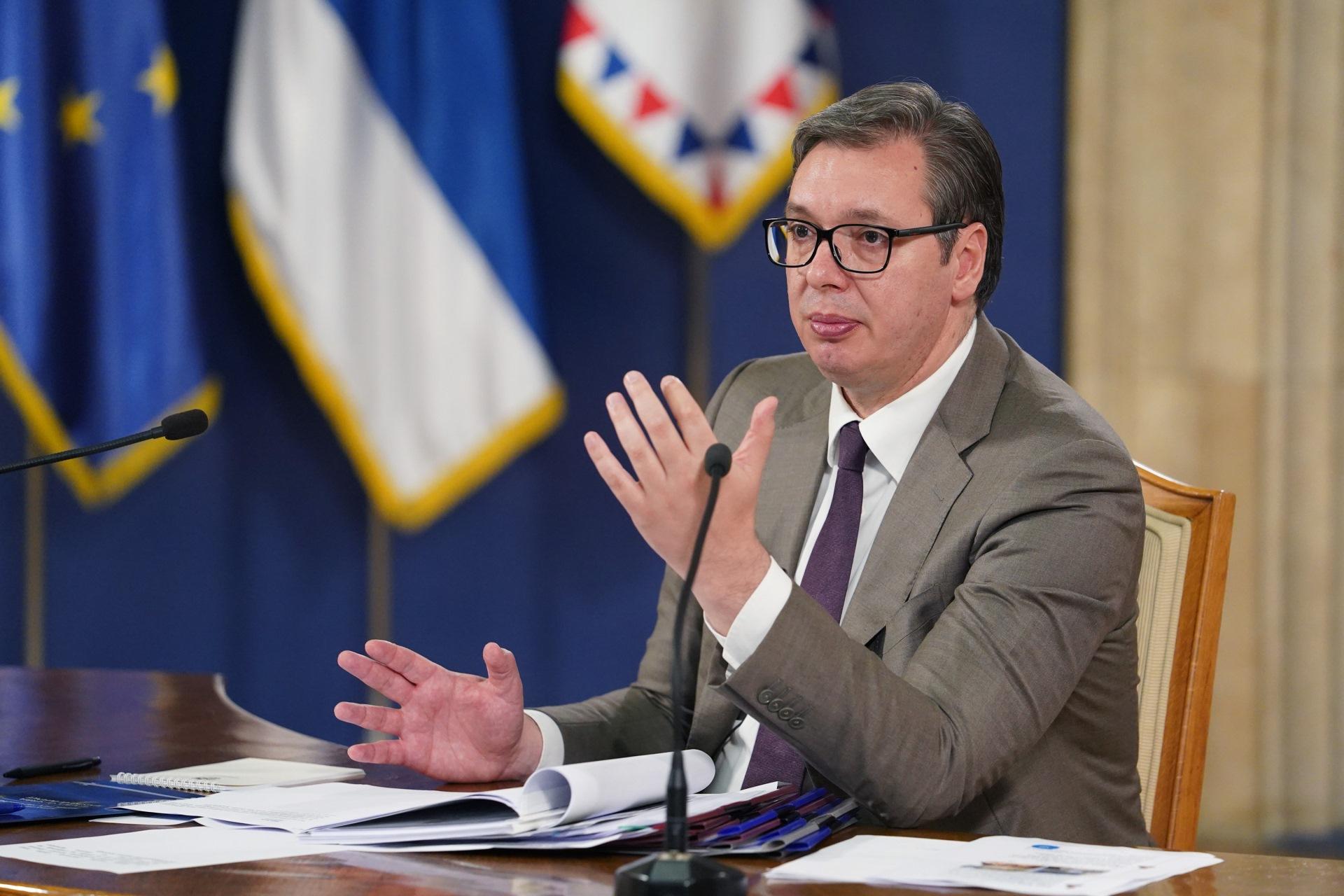 Predsednik Srbije Aleksandar Vucic Pristinska strana dosla s namerom da dijaloga nema