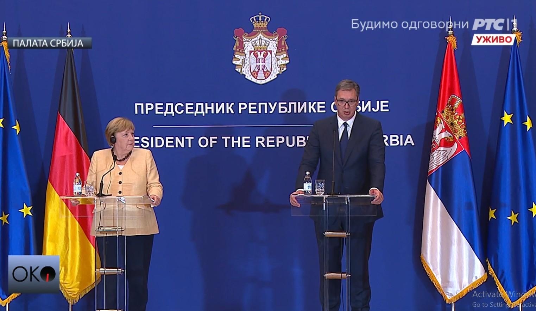 Vucic i Merkel o bilateralnoj saradnjii i odnosima u regionu