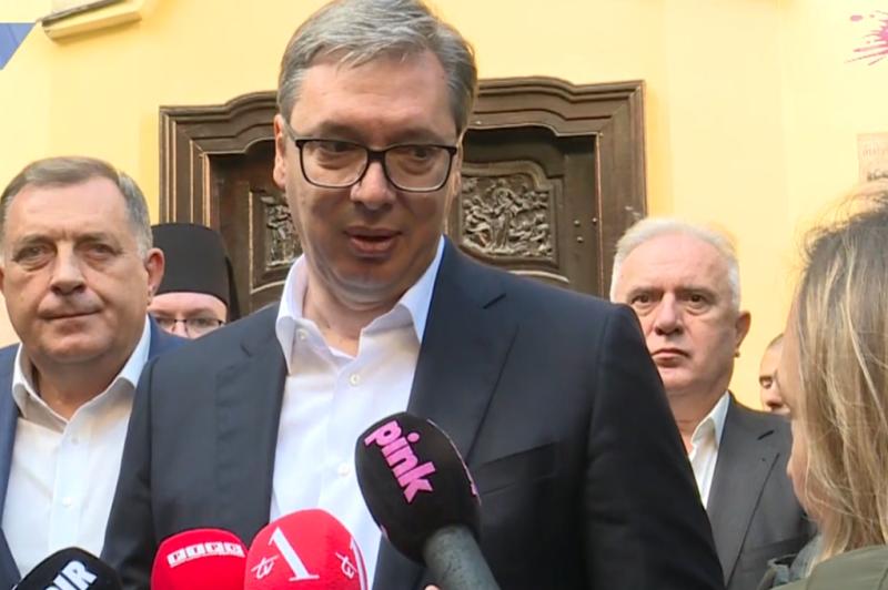 Predsednik Srbije Aleksandar Vucic Kurti prodaje maglu, zeli priznanje