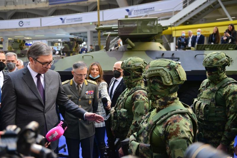 Председник Александар Вучић на сајму наоружања Партнер 2021.